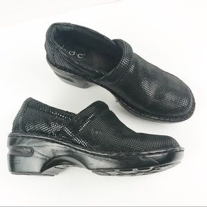 B.O.C. Born | Peggy Sparkly Black Leather Clogs 7